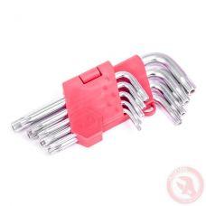 Набор Г-образных ключей Torx с отверстием INTERTOOL HT-0604