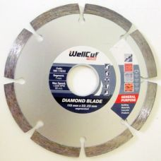 Круг алмазный 115мм*7мм*22,23мм сегмент Promo Wellcut 100-115/22