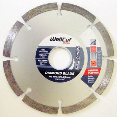 Круг алмазный 125мм*7мм*22,23мм сегмент Promo Wellcut 100-125/22