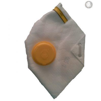 Респиратор росток с клапаном 3ПК желтый Vita DR-0005