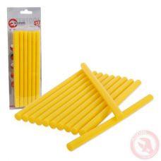 Комплект желтых клеевых стержней 11,2 мм x 200 мм Intertool RT-1021