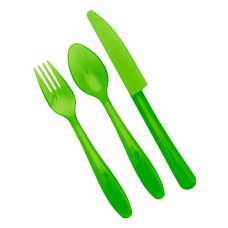 Набор столовых приборов на 4 персоны (зеленый прозрачный) Алеана 167204
