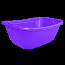 Таз прямокутный 22 л (фиолетовый) Алеана 121035