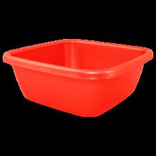 Таз квадратный 6 л (красный) Алеана 121042