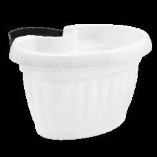 Вазон Терра с креплением 27*20*14 см 3 л (белый флок) Алеана 112097