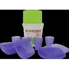 Набор посуды Подарочный (фиолетовый прозрачный) Алеана 169042