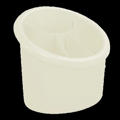 Подставка для столовых приборов овальная (бежевый) Алеана 167094