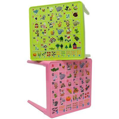 Стол детский Абетка українська (розовый) Алеана 100028