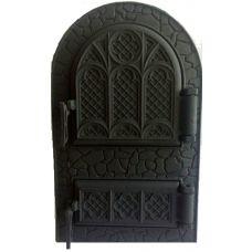 Дверца чугунная спаренная арочная Микулин 530х330 Булат
