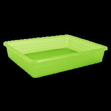 Лоток универсальный 24,8*19*6 см (салатовый прозрачный) Алеана 122081
