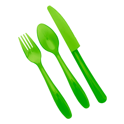 Набор столовых приборов на 6 персон (зеленый прозрачный) Алеана 167205