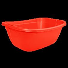 Таз прямокутный 22 л (красный) Алеана 121035