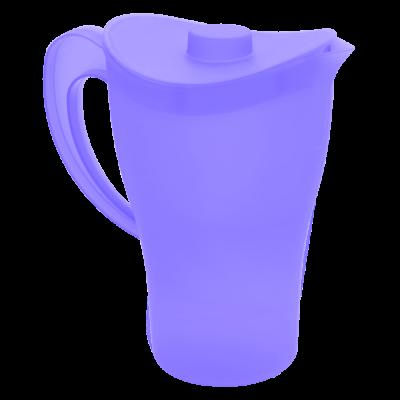 Подарочный набор Кувшин и стаканы, 2 л и 4 стаканы (фиолетовый прозрачный) Алеана 169041