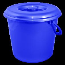 Ведро 8 л без крышки 1 сорт АК (синий) Алеана 125063