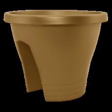 Вазон Женева с креплением на перила 2*23,5 см 6 л (бронзовый) Алеана 114019