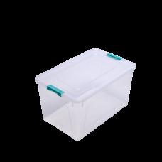 Контейнер для хранения Smart Box 40 л (прозрачный/бирюзовый) Алеана 123086