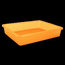 Лоток универсальный 24,8*19*6 см (оранжевый прозрачный) Алеана 122081