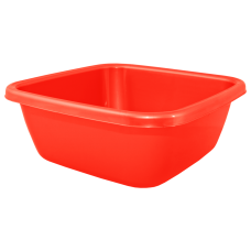 Таз квадратный 9 л (красный) Алеана 121043