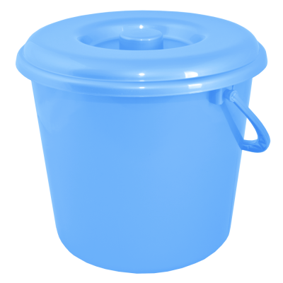 Ведро 8 л без крышки 1 сорт АК (голубой) Алеана 125063