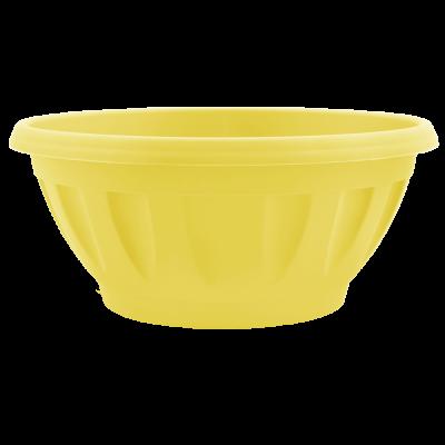Вазон «Жанна» c подставкой 24*11 см 2,6 л (жёлтый) Алеана 112085