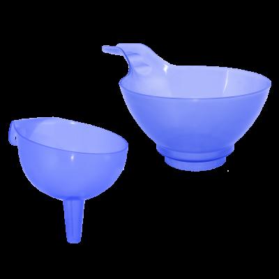 """Набор сливных воронок """"4 в 1"""" (фиолетовый прозрачный) Алеана 167208"""