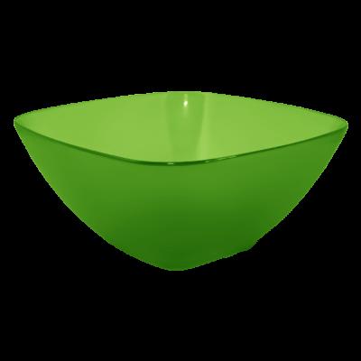 Салатница 180*180*75 мм 1 л (салатовый прозрачный) Алеана 168002