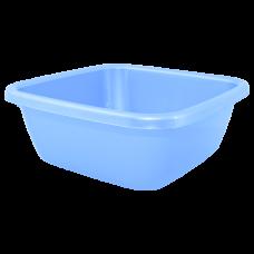 Таз квадратный 14 л (голубой) Алеана 121044