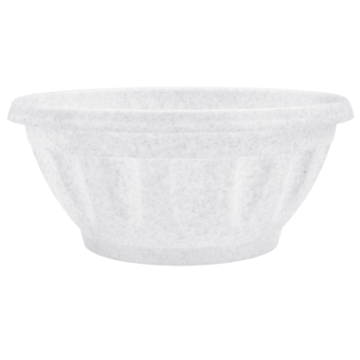 Вазон «Жанна» c подставкой 24*11 см 2,6 л (белый флок) Алеана 112085