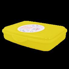 Контейнер универсальный L 20*20*7,5 см (жёлтый прозрачный) Алеана 168018