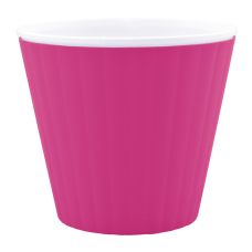 Вазон «Ибис» с двойным дном 13*11,2 см 1 л (розовый/белый) Алеана 114032