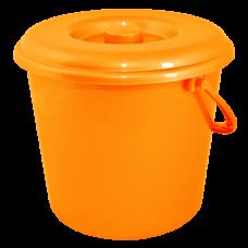Ведро 10 л без крышки 1 сорт АК (оранжевый) Алеана 125064