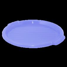 Поднос круглый 39 см (фиолетовый прозрачный) Алеана 167098