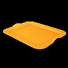 Поднос прямоугольный 46*36*4 см (оранжевый прозрачный) Алеана 167404