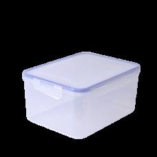 Контейнер для пищевых продуктов прямоугольный с зажимом 1,5 л (оливковый прозрачный) Алеана 167042