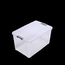 Контейнер для хранения Smart Box 0,8 л (прозрачный/серый) Алеана 123079