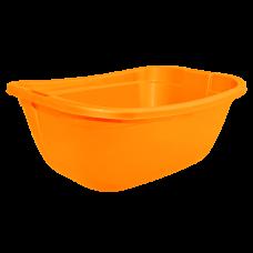 Таз прямокутный 22 л (оранжевый) Алеана 121035