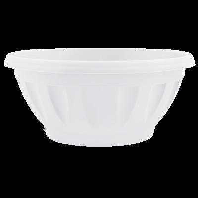 Вазон «Жанна» c подставкой 24*11 см 2,6 л (белый) Алеана 112085