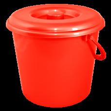 Ведро 10 л без крышки 1 сорт АК (красный) Алеана 125064