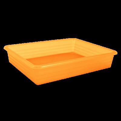 Лоток универсальный 33*25,8*6 см (оранжевый прозрачный) Алеана 122082