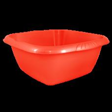 Таз квадратный Евро 6 л (красный) Алеана 121045