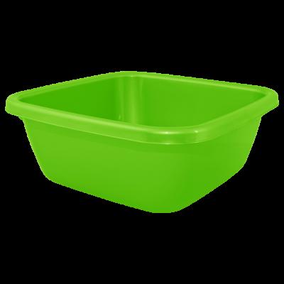 Таз квадратный 14 л (светло-зеленый) Алеана 121044