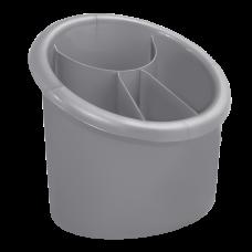 Подставка для столовых приборов овальная (серый) Алеана 167094