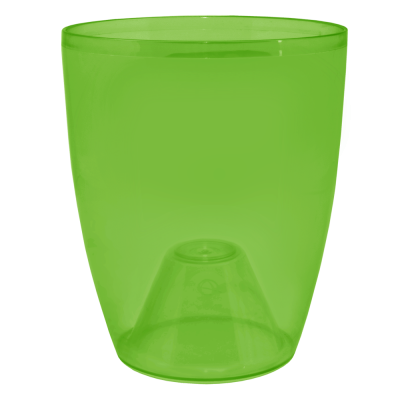 Вазон «Орхидея» 15*17 см 1,8 л (зеленый прозрачный PS) Алеана 113094