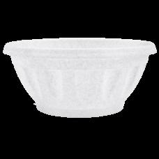 Вазон «Жанна» c подставкой 16*7,5 см 0,7 л (белый флок) Алеана 112083