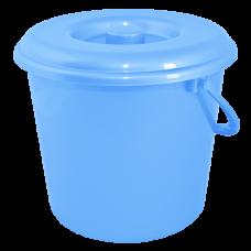 Ведро 10 л без крышки 1 сорт АК (голубой) Алеана 125064