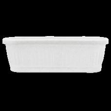 Вазон балконный «Николь» с подставкой 50*19 см 9 л (белый флок) Алеана 112092