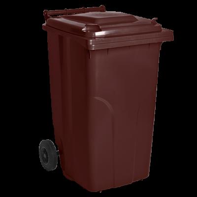Бак мусорный для ТБО 120 л (коричневый) Алеана 122064