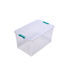 Контейнер для хранения Smart Box 27 л (прозрачный/бирюзовый) Алеана 123085