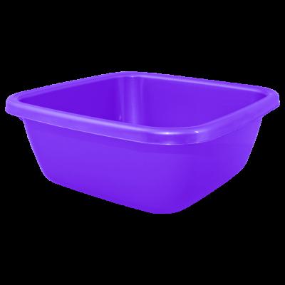 Таз квадратный 14 л (фиолетовый) Алеана 121044