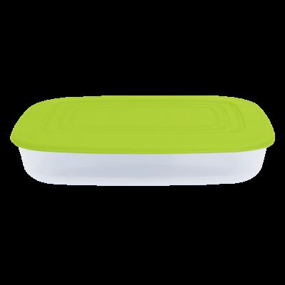 Контейнер для пищевых продуктов прямоугольный 0,95 л (оливковый/прозрачный) Алеана 167023